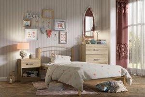 Кровать металлическая ЮНГА-2 - Мебельная фабрика «Гайвамебель»
