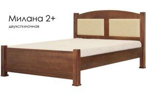 Кровать Милана 2+ из массива сосны - Мебельная фабрика «Массив»