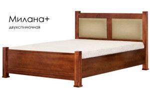 Кровать Милана + из массива сосны - Мебельная фабрика «Массив»