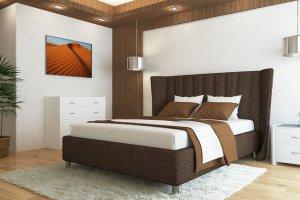 Кровать Milana в ткани рогожка - Мебельная фабрика «Strong»