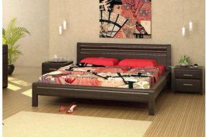 Кровать Модерн из массива березы - Мебельная фабрика «Верба-Мебель»