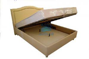 Кровать Морфей Волна+ кожзам Сафари с подъемным механизмом - Мебельная фабрика «Морфей»