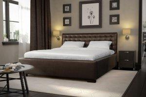 Кровать мягкая двуспальная Эльба - Мебельная фабрика «NEXTFORM»