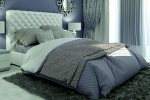 Кровать мягкая Грета - Мебельная фабрика «Элна»