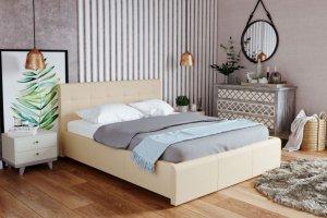 Кровать мягкая из экокожи Лаура - Мебельная фабрика «Ижмебель»