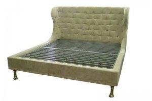 Кровать мягкая с ушами 24 - Мебельная фабрика «Эльнинио»
