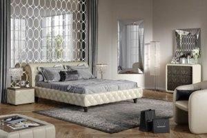 Кровать мягкая шампань Notte - Мебельная фабрика «Möbel&zeit»