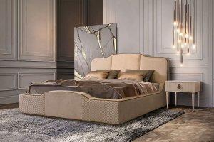 Кровать мягкая стильная - Мебельная фабрика «Ярцево»