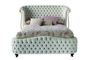 Кровать NICOLE в каретной стяжке - Мебельная фабрика «Металл Плекс»