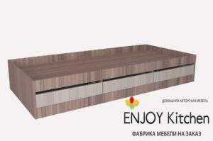 Кровать односпальная KR5 - Мебельная фабрика «ENJOY Kitchen»