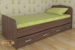 Кровать односпальная с ящиками - Мебельная фабрика «Уют-М»