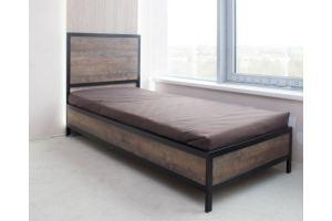 Кровать односпальная в стиле Лофт - Мебельная фабрика «ЭММК»
