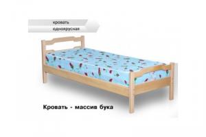 Кровать одноярусная из бука - Мебельная фабрика «Алекс»