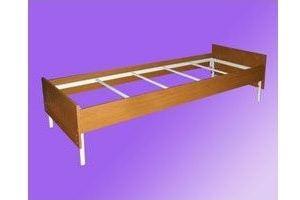 Кровать одноярусная ЛДСП - Мебельная фабрика «Мартис Ком»