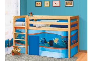 Кровать Омега 14 из массива вариант-11 - Мебельная фабрика «Фант Мебель»