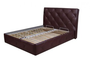 Кровать ортопедическая с мягким изголовьем - Мебельная фабрика «ММастер»