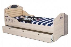 Кровать Pirat 2 с высоким изножьем - Мебельная фабрика «ABC King»