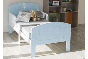 Кровать подростковая Юнга Голубая КПЮ-10/160 - Мебельная фабрика «Феалта»
