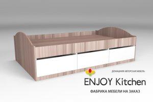 Кровать полутораспальная KR13 - Мебельная фабрика «ENJOY Kitchen»