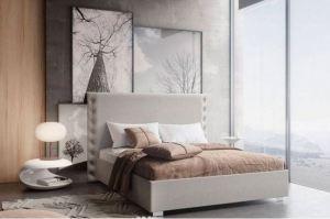 Кровать с большим изголовьем Ева - Мебельная фабрика «Crown Mebel»
