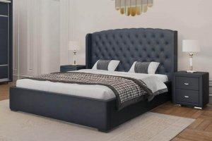 Кровать с изголовьем в каретной стяжке Венеция - Мебельная фабрика «Crown Mebel»