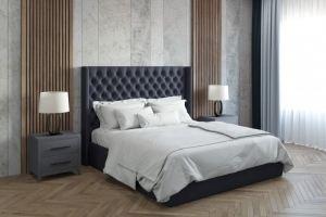 Кровать с каретной стяжкой Беатрис - Мебельная фабрика «Crown Mebel»