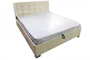 Кровать с каретной стяжкой Белла 1 - Мебельная фабрика «Лама»