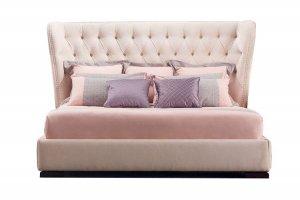 Кровать с каретной стяжкой Флоренция - Мебельная фабрика «Black & White»