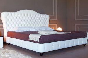 Кровать Грация с каретной стяжкой - Мебельная фабрика «Арново»