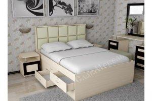 Кровать с комодом Волна 4 - Мебельная фабрика «СлавМебель»