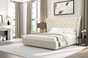 Кровать с королевской спинкой Ника - Мебельная фабрика «Релакс»