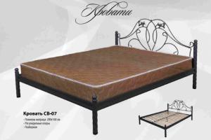 Кровать с ковкой СВ-07 - Мебельная фабрика «СВ»