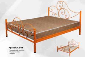 Кровать с ковкой СВ-08 - Мебельная фабрика «СВ»