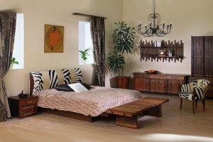 Кровать с кожаным изголовьем Yasawa - Импортёр мебели «Arredo Carisma»