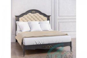 Кровать с мягким изголовьем 216BL - Мебельная фабрика «ALETAN wood»