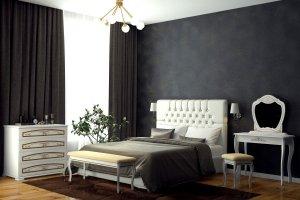 Кровать с мягким изголовьем Шарм 1 - Мебельная фабрика «DM - DarinaMebel»