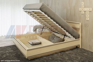 Кровать с подъемным механизмом Карина КР-1001 - Мебельная фабрика «Лером»