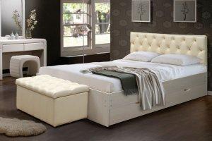 Кровать с пуфом - Мебельная фабрика «Актив М»