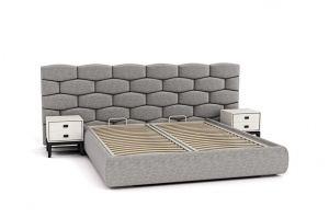 Кровать с широким мягким изголовьем Iris - Мебельная фабрика «Artiform»