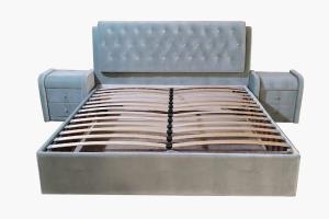 Кровать с мягкими тумбами Клеопатра - Мебельная фабрика «Алга»