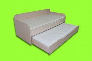 Кровать с выкатным спальным местом Альфа - Мебельная фабрика «Уют»
