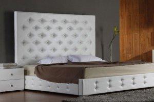 Кровать с высоким изголовьем Эльбрус - Мебельная фабрика «Арново»