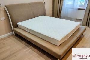 Кровать с высоким мягким изголовьем - Мебельная фабрика «Амплуа»