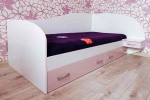 Кровать с ящиками для девочки - Мебельная фабрика «Агата»