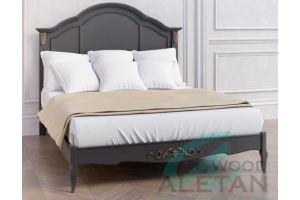 Кровать с жестким изголовьем 208BL - Мебельная фабрика «ALETAN wood»