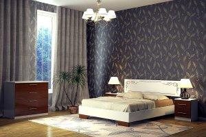 кровать Сабрина 3 светлая - Мебельная фабрика «DM- darinamebel»