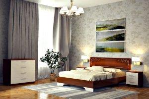 кровать Сабрина 3 темная - Мебельная фабрика «DM- darinamebel»