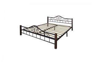 Кровать Сартон 1 (160) черный/средне-коричневый - Мебельная фабрика «Мебелик»
