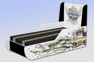 Кровать детская Тинейджер Граффити музыка - Мебельная фабрика «Рим»