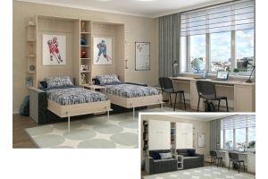 Кровать-шкаф подъемная 61 - Мебельная фабрика «Уют сервис»